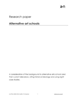 Alternative art schools