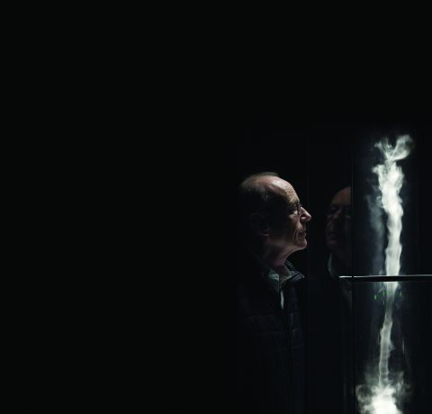 Anthony McCall with model of Column