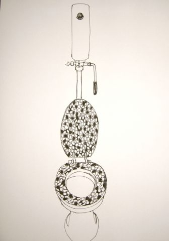 a flush mechanism, from the Encyclopedia of Wherewithall, sketchbook project 2012