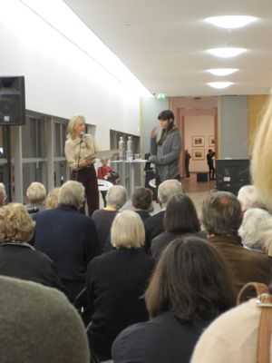 Friend's Sculpture Prize being awarded to Sofia Hulten