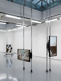 Installation view, Hilary Lloyd, Sadie Coles, London