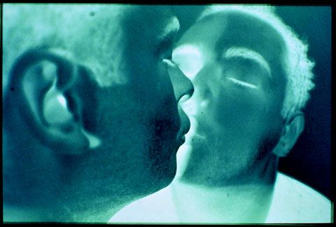 Self portrait (kissing with Scopolamine)