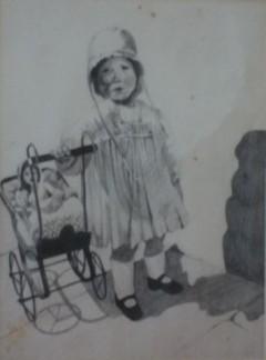 Mum with doll's pram