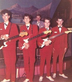 forget the famous blue raincoat...i give you the famous red suits!