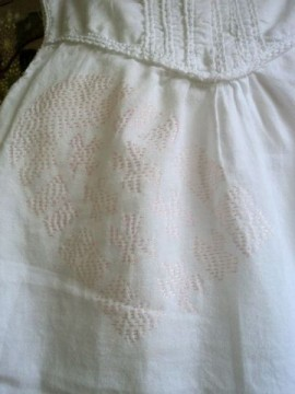 Baby dress with boot print
