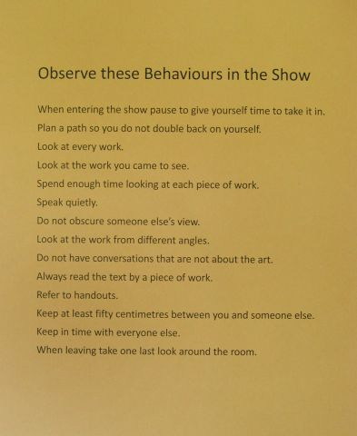 Observe these Behaviours in the Show