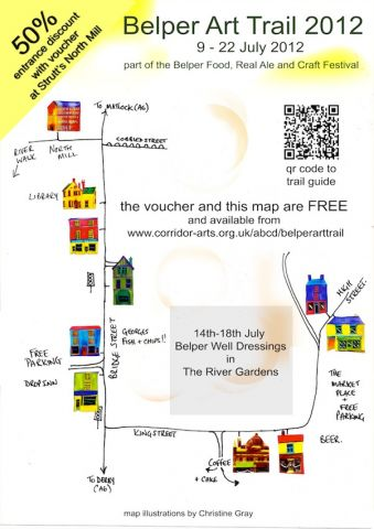 belper art trail 2012 map