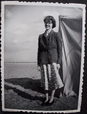 Pat on Seaton Carew beach