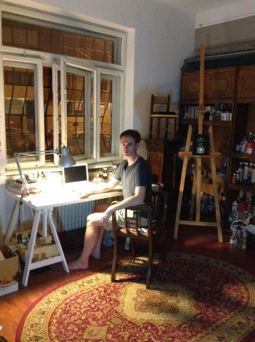 Chris in his studio