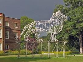 Lion Scaffolding Sculpture