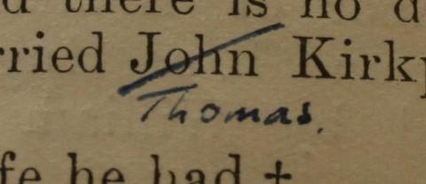It's Thomas not John