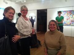 Franny Swan, Ros Barker and Joanna Jones at Meeting Room, Sevenoaks Kaleidoscope Gallery