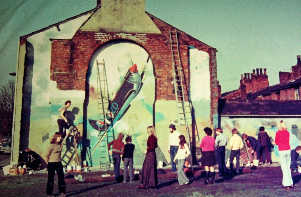 Walter Kershaw, Spitfire mural