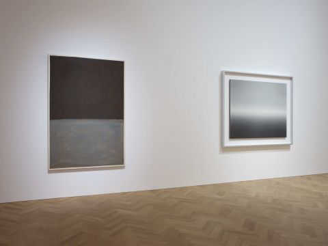 Mark Rothko; Hiroshi Sugimoto. Courtesy: Pace Gallery. Left:
