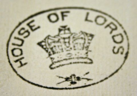 House of Lords stamp