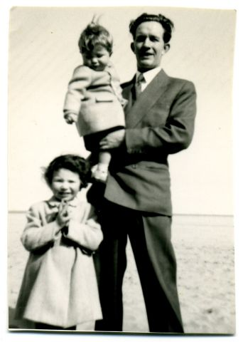 my first birthday on a day trip to Seaton Carew - attempting the overhead hair pull technique