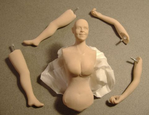 Marion Keene doll - all arms and legs - a work in progress