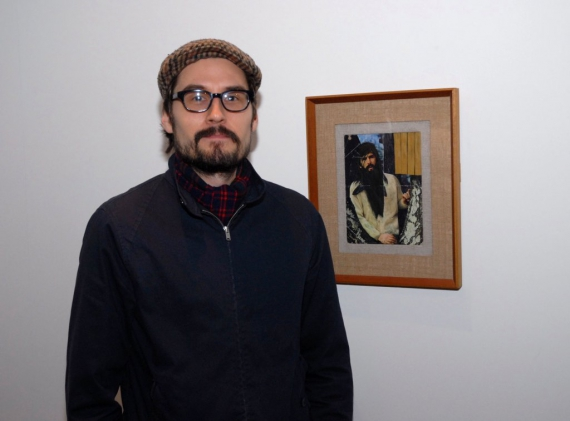 Martyn Cross and his winning work The Hermit Age.