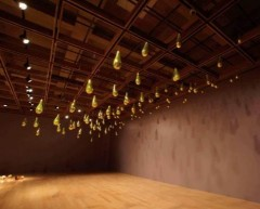 Golden Rain - installation at Palm Springs Art Museum