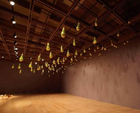 Golden Rain - installation at Palm Springs Art Museum