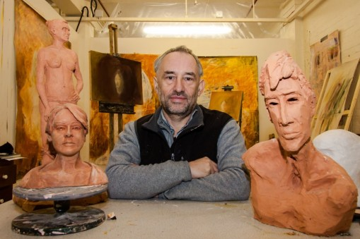 Steve Grant in his studio at Bermondsey Project