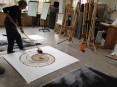 action drawing at Blue Monkey shared space residency 2014