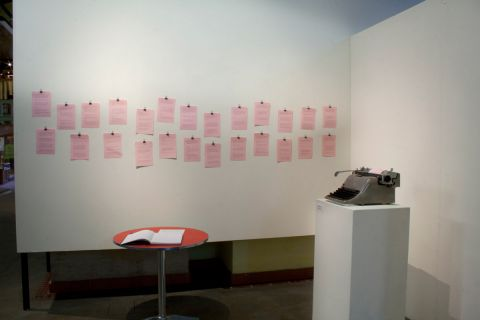 typewriter, paper, an invitation to participate