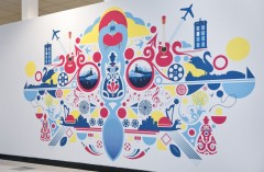 Matt Needle's commission for Cardiff Airport.