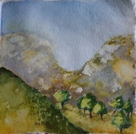 Troodos Mountains Watercolour Study