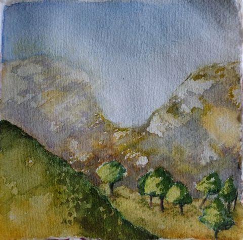 Troodos Mountains Watercolour Study