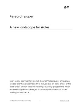 A new landscape for Wales