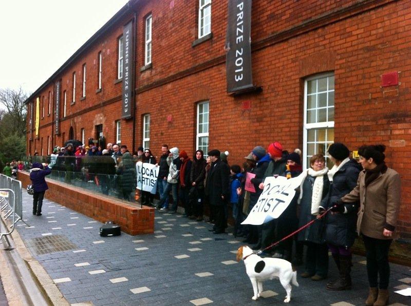 Ebrington Barracks protest
