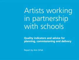 Artists working in partnership with schools. Image taken from front cover of PDF.