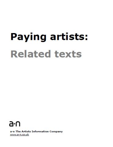 Paying artists related texts