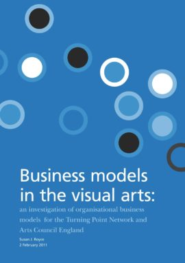 Business models in the visual arts. Image taken from front cover of PDF.