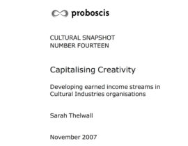 Capitalising creativity. Image taken from front cover of PDF.
