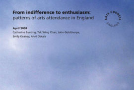 From indifference to enthusiasm. Image taken from front cover of PDF.