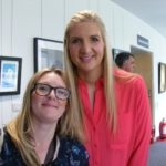 The artist and Rebecca Adlington