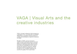 VAGA: Visual arts and the creative industries. Image taken from front cover of PDF.