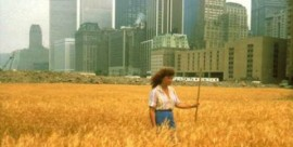 Wheatfield A Confrontation: Battery Park Landfill, Downtown Manhattan.