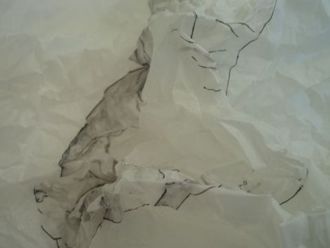 Crumpled drawing