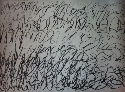 semi-blind writing
