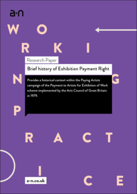 Brief history of Exhibition Payment Right