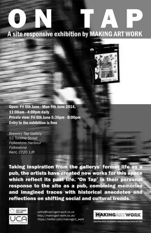"Flyer for the ""On Tap"" exhibition"