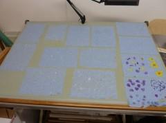 Paper drying in my studio