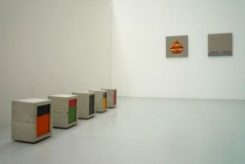 New Build (sculpture) & Regular Work (painting) installation shot, 2008