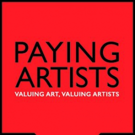 Paying Artists campaign logo red