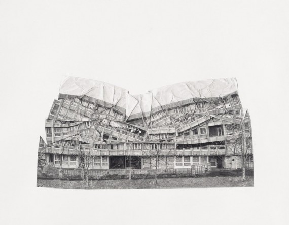 Jessie Brennan, A Fall of Ordinariness and Light (The Enabling Power), graphite on paper, 50x64cm, 2