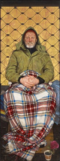 Thomas Ganter, Man with a Plaid Blanket, winner of the 2014 BP Portrait Award