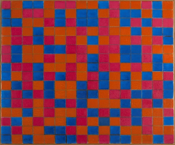 Piet Mondrian (1872-1944), Composition with Grid 8: Checker board Composition with Dark Colours, 1919